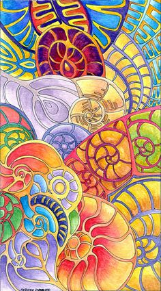 Approx x Derwent 'Soft' Coloured pencils, iridescent/metallic paints/pens and black ink on beige Murano drawing paper. Zen Doodle, Doodle Art, Tangle Art, Art Pictures, Photos, Aboriginal Art, Fractal Art, Painting & Drawing, Paisley