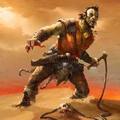 CN Half Orc Ranger whip slaver desert