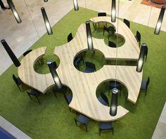 Socialization Spaces | Unique Office Space Design by Menendez y Gamonal Arquitectos