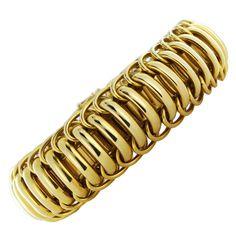 Flexible Wide Gold Bracelet 1
