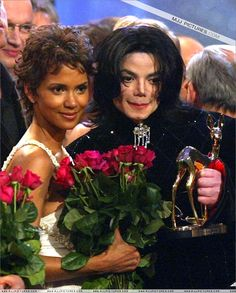 Michael Jackson and actress Halle Berry during the Bambi Awards at the Estrel Convention Center Berlin November 21 2002.