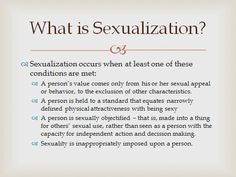 Hypersexualization meaning