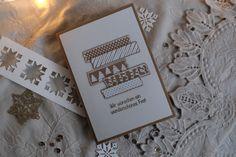Handgemachte Weihnachtskarte Framed Scrapbook Paper, Paper Frames, Handmade Christmas, Holiday Cards, Cardmaking, Christmas Holidays, Birthday Cards, Greeting Cards, Seasons