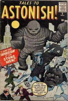 Tales to Astonish; Vol Silver Age Horror / Sci-Fi Comic Book. Sci Fi Comics, Old Comics, Horror Comics, Vintage Comics, Horror Art, Comic Book Covers, Comic Books Art, Book Art, Hulk