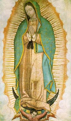 Our Lady of Guadalupe is an aspect of the Virgin Mary who appeared to St. Juan Diego Cuauhtlatoatzin, an Aztec convert to Roman Catholicism, in 1531. According to the traditional account, Juan Diego was walking between his village and Mexico City on December 12, 1531 when Our Lady of Guadalupe appeared, speaking to him in his native Nahuatl language.