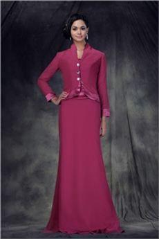 Geraldina - Fabuloso Vestido para Madre de la Novia Round-Largo al Piso Anderae's