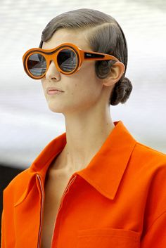 Prada Spring 2011 sunglasses - okay, so they're not quite wearable in 'real' life, but we love them anyway!