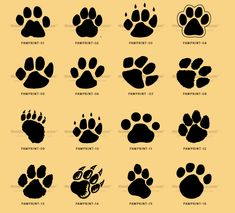 Image detail for -kids, and everybody. Paw print clip art can be used for cat paw prints ...