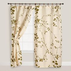 Lyrical Branches Window Curtain from Cost Plus World Market's New Woodland Retreat Collection >> #WorldMarket Home Decor Ideas