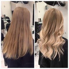 Från ett helt ofärgat hår till en mjuk balayage med blonda längder  #healthyhair #softblonde #lorealproffessionel  #kerastase #fusiodose