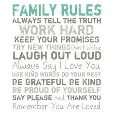 life rules...