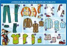 Ideas de como doblar tu ropa a la hora de hacer tu maleta