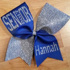 Senior 2017 cheer bow. Cheer bow. Bow. by CurlyNoodleCreations
