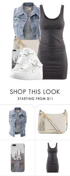 """~ You got it going on, your body always turns me on ~"" by mindlesscupkake421 ❤ liked on Polyvore featuring Michael Kors, H&M and NIKE"