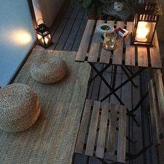 Architecture – Enjoy the Great Outdoors! Terrace Decor, Small Balcony Decor, Balcony Design, Interior Balcony, Interior Design Living Room, Living Room Decor, House With Balcony, Ideas Hogar, Aesthetic Room Decor