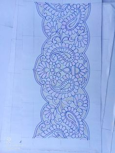 Indian Embroidery Designs, Aari Embroidery, Embroidery Stitches, Wreath Drawing, Pencil Design, Saree Border, Madhubani Painting, Sketch Drawing, Sketch Design
