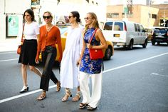 New York Fashion Week Street Style Editors Group