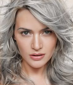 Kate Winslet, photographed by James White for Esquire Magazine (May Kate Winslet, Gorgeous Women, Beautiful People, James White, Actrices Hollywood, Going Gray, Grey Hair, White Hair, Famous Faces