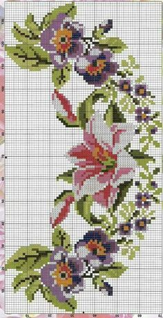1 million+ Stunning Free Images to Use Anywhere Cross Stitch Art, Cross Stitch Borders, Cross Stitch Flowers, Cross Stitch Designs, Cross Stitching, Cross Stitch Embroidery, Hand Embroidery, Cross Stitch Patterns, Bordado Floral