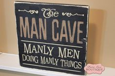 "#FathersDay #ManCave #Dad #fathersday The Man Cave, 12"" x 12"" wood sign"