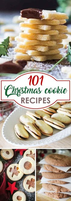 101 Christmas Cookie Recipes to get you in the holiday spirit and help you find the perfect cookie for cookie exchange parties! Traditional Christmas cookies, and even Gluten free Christmas cookies and even Low Carb Christmas cookies are included in this list, so there is something for everyone!