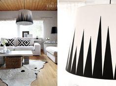 Diy lamp, painted stripes