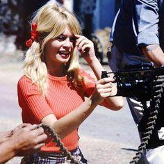 Brigitte Bardot during the filming of 'Viva Maria', Mexico, 1965. #brigittebardot #brigitte #bardot #bb