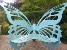 Weather Resistant White Metal Butterfly Garden Bench, From Plow And Hearth  119.95   Gardens   Pinterest   Hearths, Bench And Weather