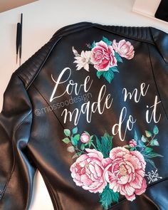 Bridal jacket by Painting Leather, Boho Bride, Women Life, Bridal Jackets, Hand Painted, In This Moment, Mai, Rock, Collection
