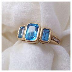 Vintage blue topaz (