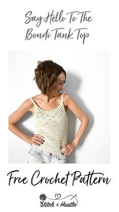Mode Crochet, Bag Crochet, Crochet Blouse, Crochet Clothes, Crochet Sweaters, Crochet Shrugs, All Free Crochet, Crotchet, Crochet Tank Tops