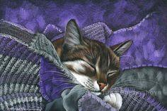 Tabbies Keeping Warm Irina Garmashova Cats