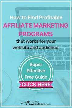 High Paying Affiliate Programs Guide - Make A Website Hub Affiliate Marketing, Marketing Program, Content Marketing, Online Marketing, Media Marketing, Make Money Blogging, Way To Make Money, Money Fast, Blogging Ideas