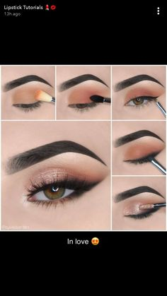 Soft Eye Makeup, Eye Makeup Steps, Makeup Eye Looks, Eye Makeup Art, Simple Eye Makeup, Kiss Makeup, Smokey Eye Makeup, Eyeshadow Makeup, Makeup Spray