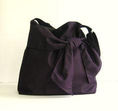 Deep Purple Canvas Bag  Ninny by tippythai on Etsy, $39.00