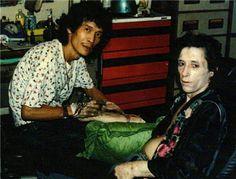 An ill looking Johnny Thunders in Bankok a few weeks befoe he died