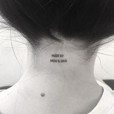 40 Small Tattoo Ideas to Copy Now via Brit + Co - diy tattoo - diy Phrase Tattoos, Small Quote Tattoos, Cute Small Tattoos, Small Tattoo Designs, Tattoo Designs For Women, Tattoos For Women, Tattoo Small, Hidden Tattoos, Small Tattoos For Girls