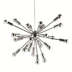 Fine Mod Imports FMI8010 Spark 24 Light Hanging Chandelier in Silver