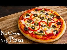 Pizza without Oven| Veg Pizza| Pizza in Kadhai|Homemade Pizza Dough & Sauce ~ The Terrace Kitchen - YouTube Pizza Recipe Without Oven, Vegetarian Pizza Recipe, Pizza Recipes, Snack Recipes, Cooking Recipes, Pizza Dough, Pizza Pizza, Sausages In The Oven, Best Homemade Pizza