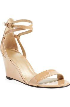 Stuart Weitzman 'Backdraft' Ankle Strap Wedge Sandal (Women) available at #Nordstrom