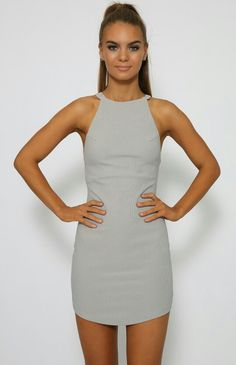 Stanza Dress - Grey. Peppermayo