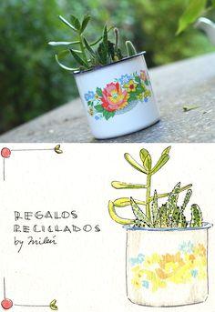 *Regalos Reciclados* ilustraciòn en acuarela by Milèn Corrèn
