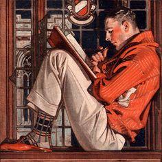 j c leyendecker Mode Vintage, Vintage Art, Jc Leyendecker, Character Art, Character Design, Norman Rockwell Art, Pulp Art, Gay Art, Aesthetic Art