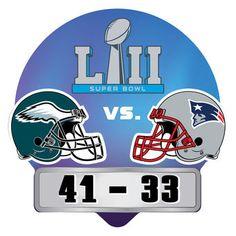 b4040c46e Philadelphia Eagles Super Bowl LII Champions Score Pin Super Bowl Gear