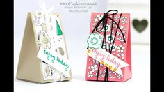 Video Tutuorial - Triangle Box using Stampin' Up! Pick a Pattern DSP by Pootles