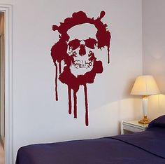 Wall Stickers Blood Horror Skull Death Teen Room Art Mural Vinyl Decal (ig2003)