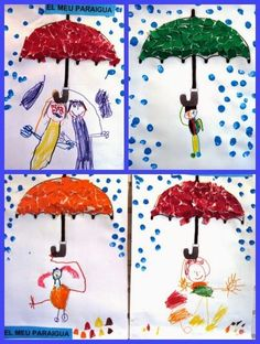 56 Cool and Easy DIY Projects for Kids and Adults Winter Art Projects, Diy Projects For Kids, Crafts For Kids, Preschool Weather, Preschool Crafts, Autumn Crafts, Spring Crafts, Rain Crafts, Diy And Crafts