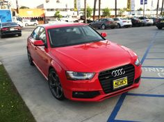 This is what I call a Red Hot Chilli Pepper. Brilliant Red 2014 Audi A4 Quattro on Titanium at @Keyes Audi. http://www.keyesaudi.com/inventory/new.html?manufacturer=Audi&model=A4&start_index=1