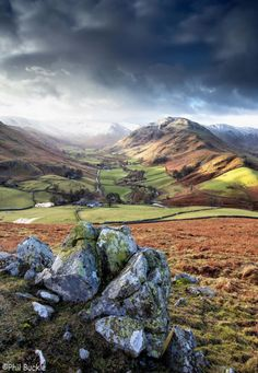 "travelgurus: "" Martindale in Lake District, Cumbria, United Kingdom by Phil Buckle Travel Gurus Cumbria, Derbyshire, Lake Photography, Landscape Photography, Lake District, British Countryside, Beautiful Places To Visit, Landscape Photos, Beautiful Landscapes"