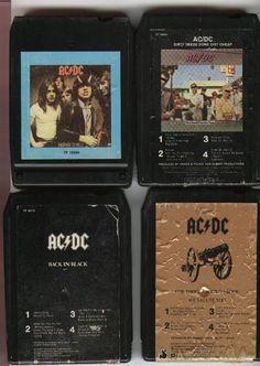 8-Track Tapes: AC/DC Collection Ac Dc, 8 Track Tapes, Bon Scott, Angus Young, Swan Song, Atlantic Records, Def Leppard, Black Sabbath, Ol Days